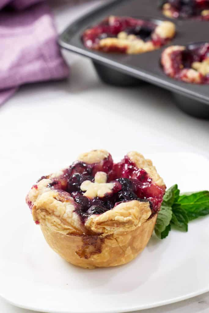 Mini blueberry tart