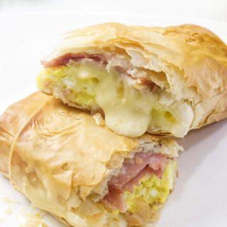 Crispy Phyllo Breakfast Burrito Wraps