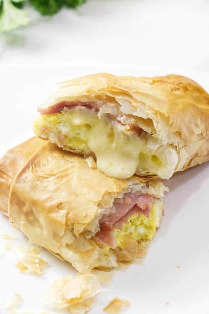Phyllo breakfast wraps