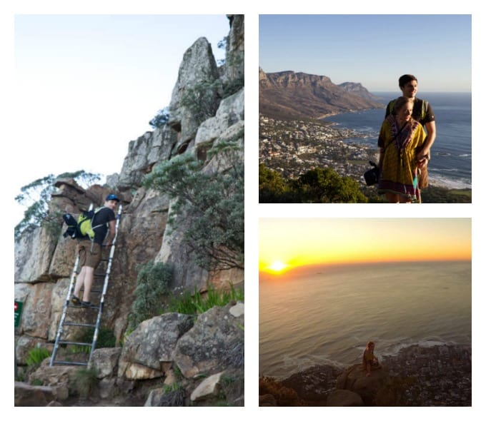 collage from the climb up Lions Head mountain