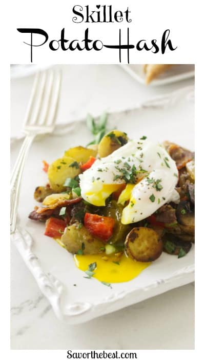 Breakfast Potato Skillet with Bacon and Mushrooms