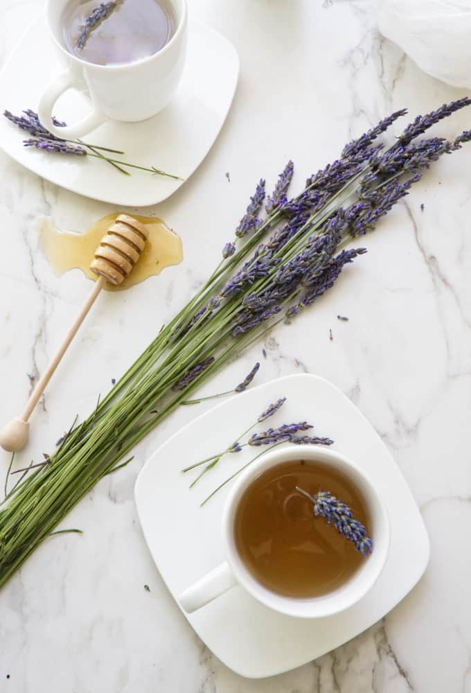 Homemade Lavender Tea with Honey