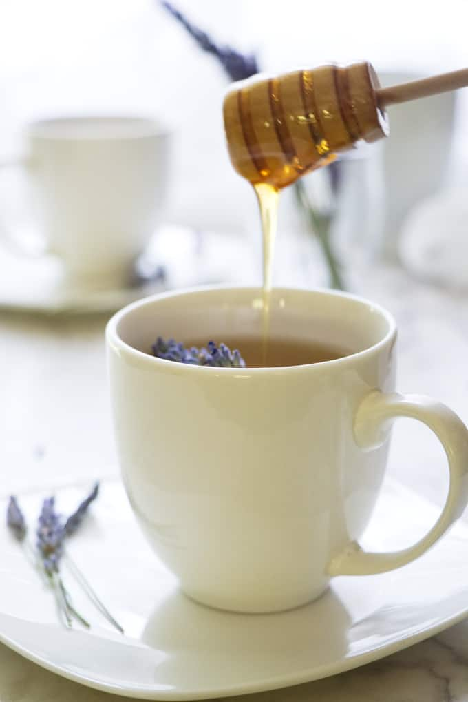 Homemade Lavender Tea with Honey