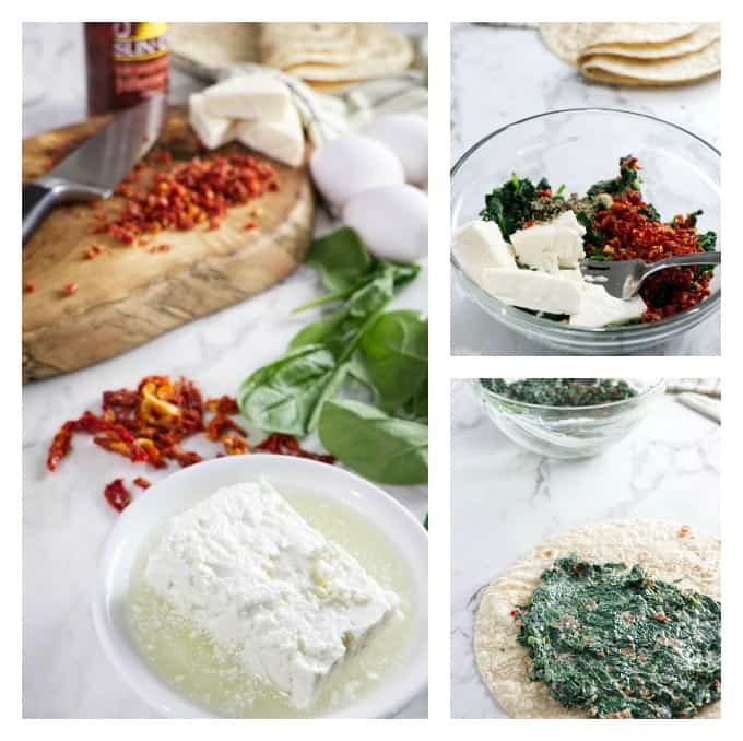 Starbucks Spinach and Feta Breakfast Wraps Collage