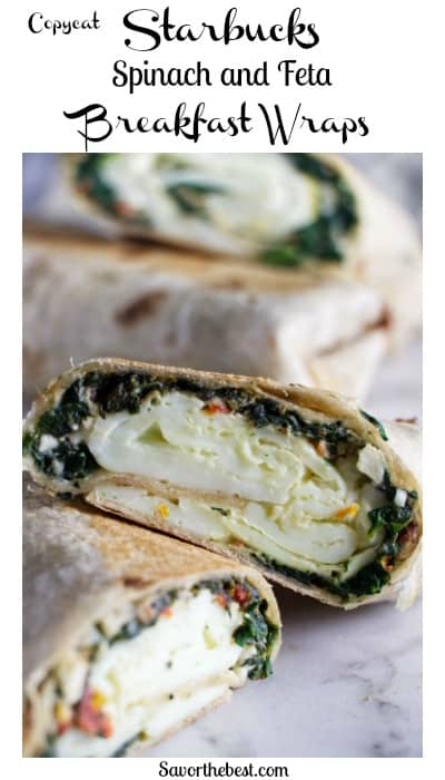 Starbucks Spinach and Feta Breakfast Wraps