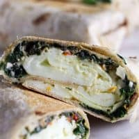 Copycat Starbucks Spinach and Feta Breakfast Wraps