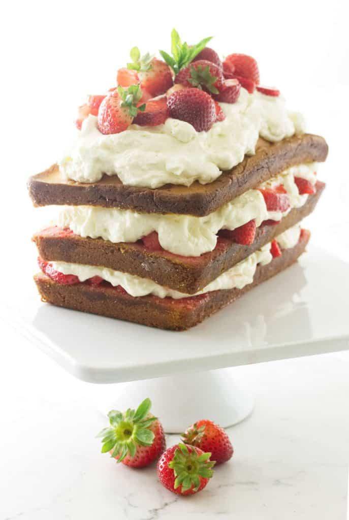 Strawberry Shortcake with Pound Cake