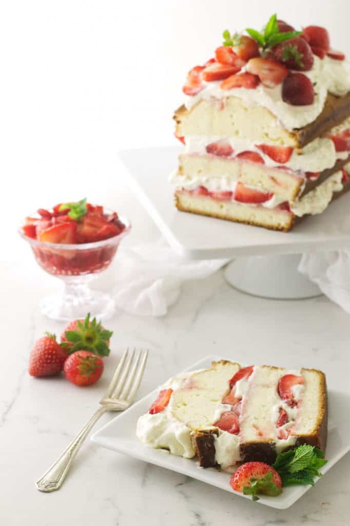 Strawberry Shortcake with Pound Cake