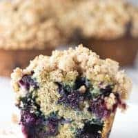 Banana Blueberry Muffins with Crumb Topping