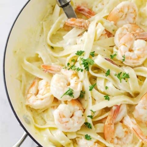 Creamy Garlic Butter Shrimp Pasta