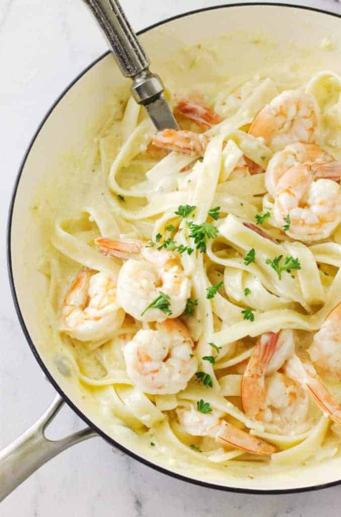 Creamy Garlic Butter Shrimp Pasta