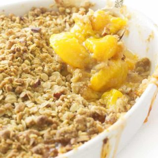 Easy Peach Crisp with Oatmeal Crumble