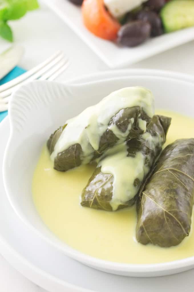 Lamb Stuffed Grape Leaves With Avgolemono Sauce Savor The Best