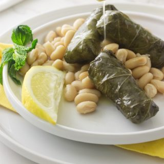 Greek Dolmades with Cannelloni Beans