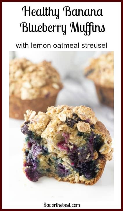 healthy banana blueberry muffin pinterest photo