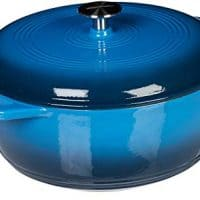 AmazonBasics Enameled Cast Iron Dutch Oven - 6-Quart, Blue