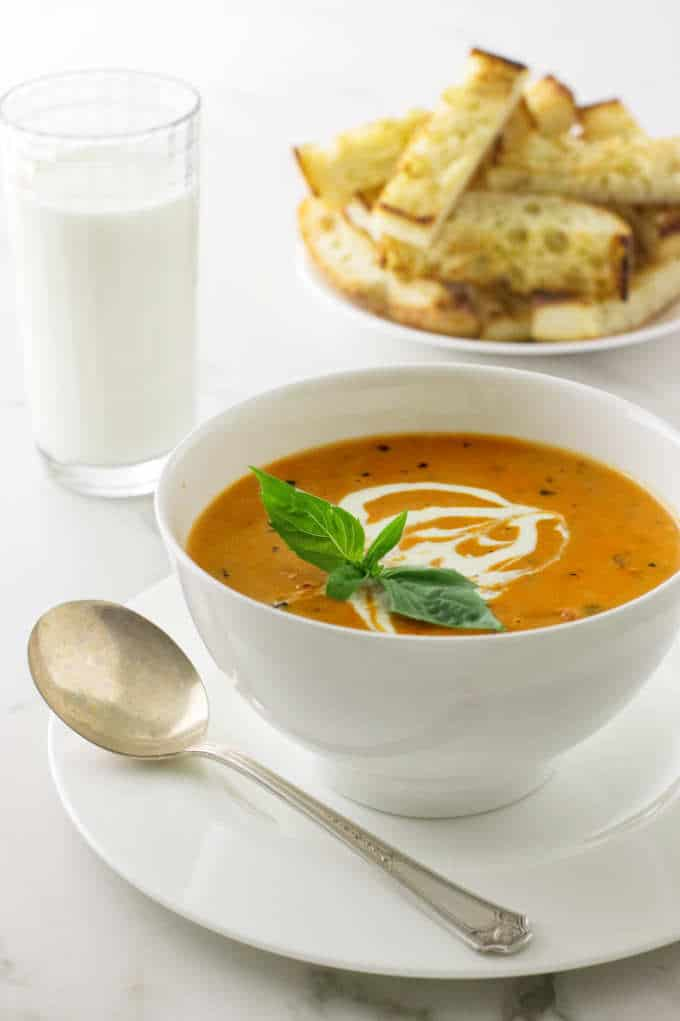 Creamy Roasted Tomato-Basil Soup