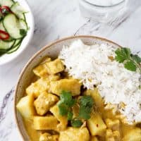 Thai Yellow Curry Chicken and Potatoes