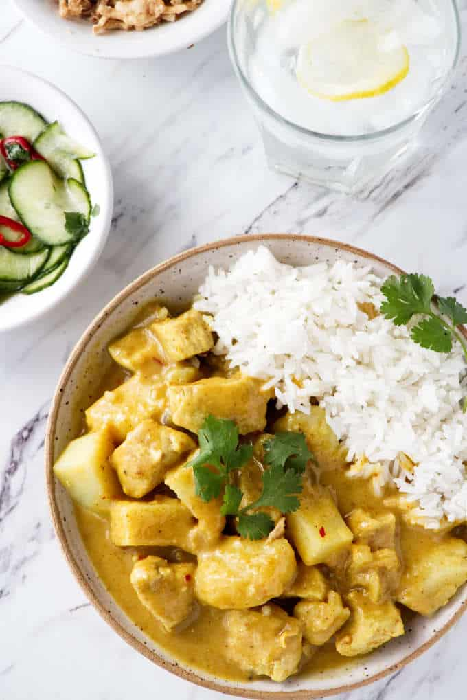 Thai Yellow Curry Chicken and Potatoes - Savor the Best