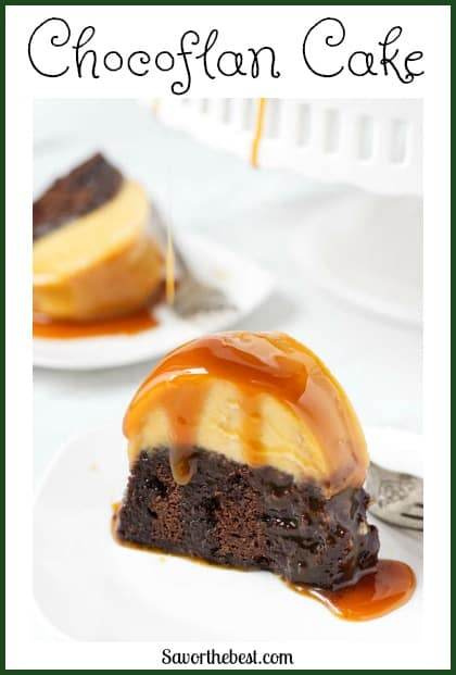 chocoflan cake pinterest pin