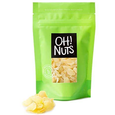 Oh! Nuts® Ginger Dried and Sweetened, Crystallized Dry Ginger (2 LB Crystallized Ginger)