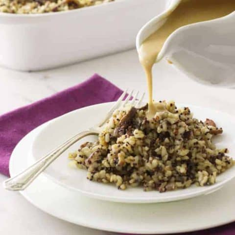 Sprouted Brown Rice and Quinoa Stuffing