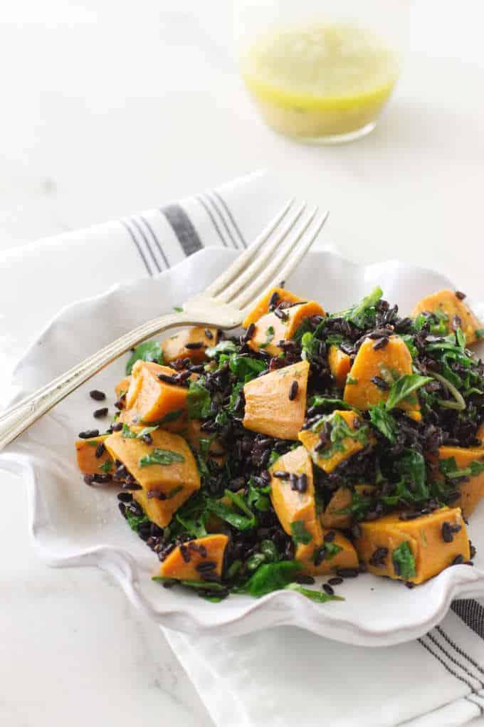 Sweet Potato Kale Salad with Black Rice
