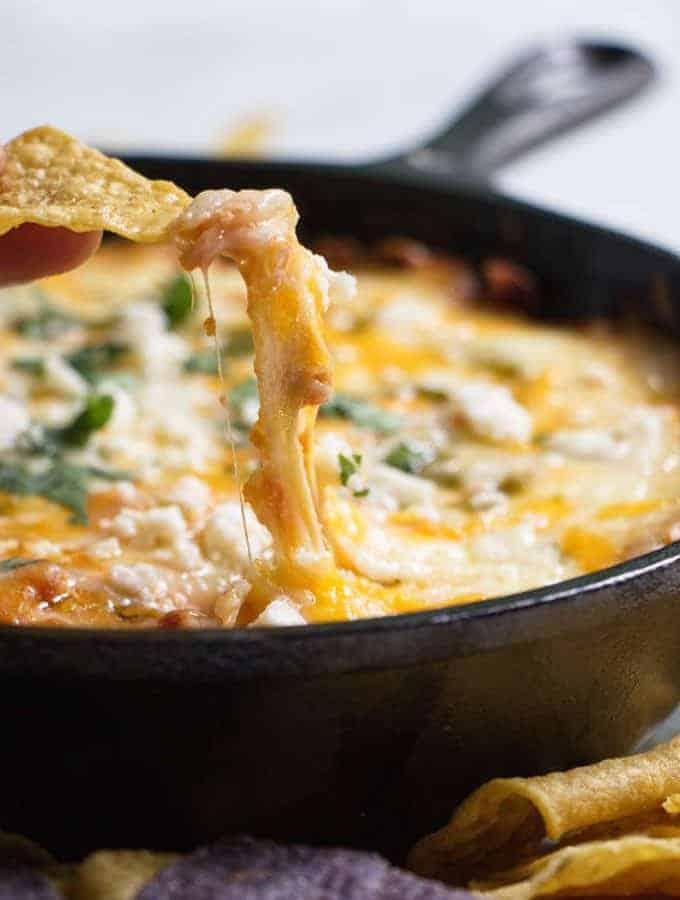 cheesy and hot chili relleno dip