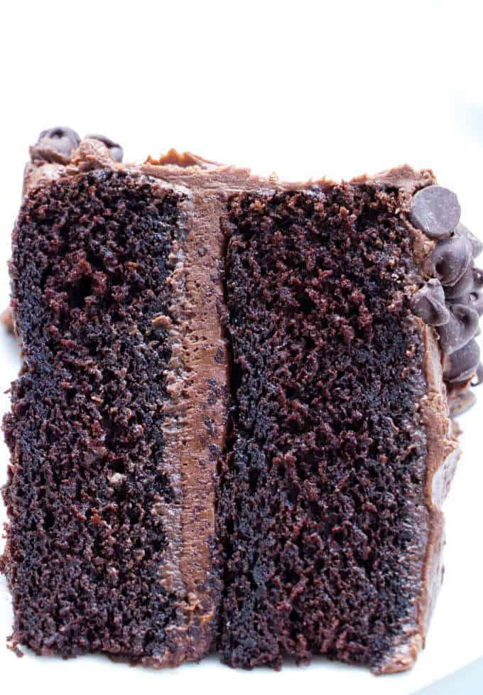 A truly incredible gluten free chocolate cake that is soft, tender and moist. You can mix the batter in one bowl and get perfect results every time.