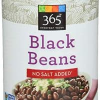 365 Everyday Value, Black Beans No Salt Added, 15 Ounce