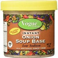 Vogue Cuisine Onion Soup & Seasoning Base 4oz - Low Sodium, Gluten Free, All Natural Ingredients