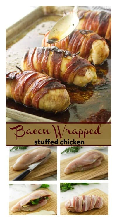 bacon wrapped stuffed chicken how to pin