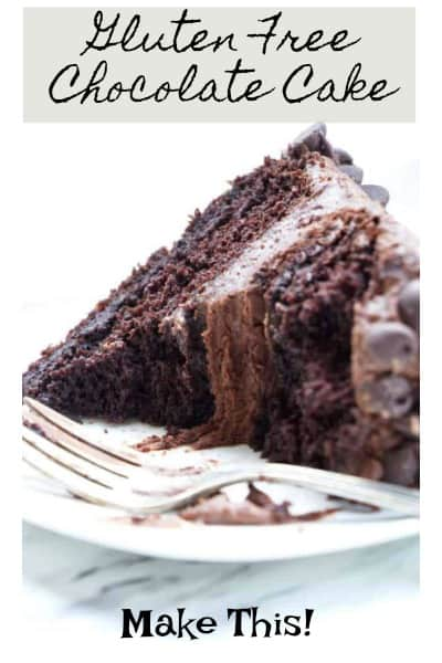gluten free chocolate cake pinterest pin