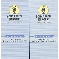 Scharffen Berger Baking Bar, Bittersweet Dark Chocolate (70% Cacao), 9.7-Ounce Packages (Pack of 2)