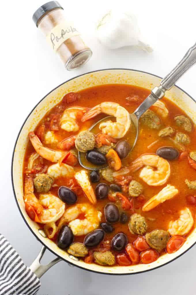 Spanish Chorizo and Shrimp Pasta