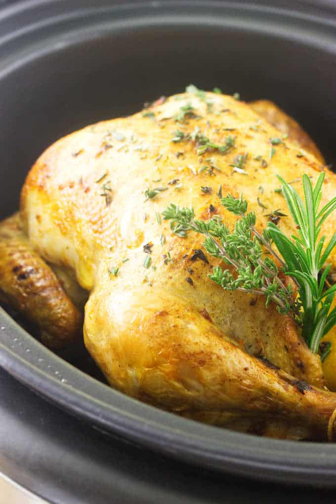 Whole Chicken in the Crockpot
