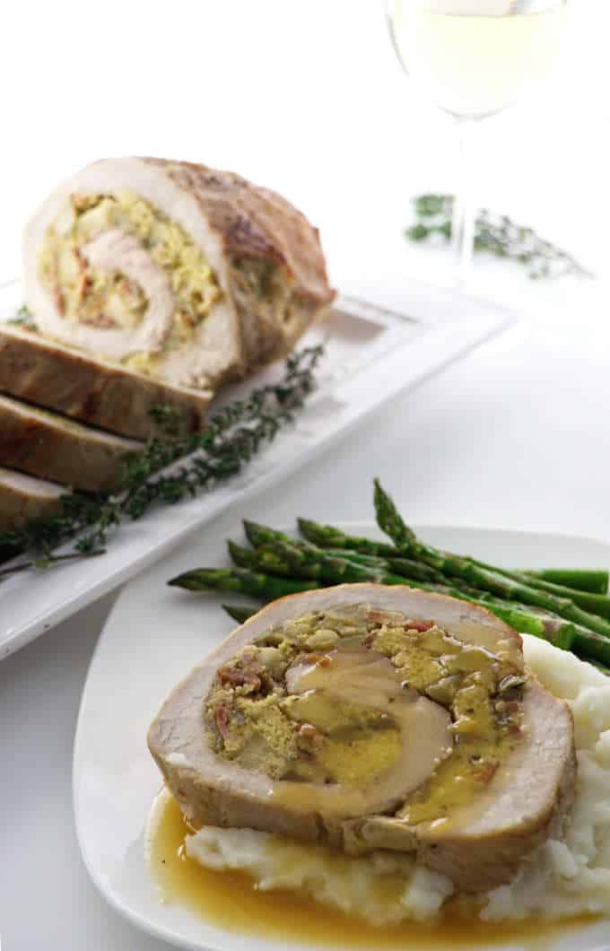 apple stuffed pork loin