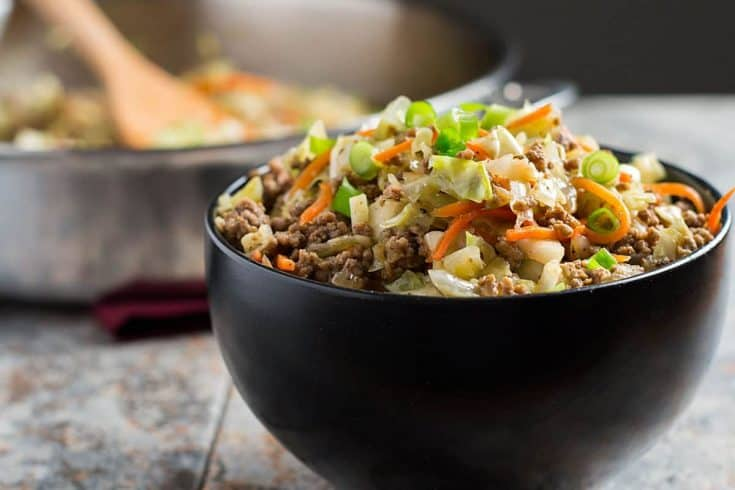 Egg Roll in a Bowl - paleo, low-carb, AIP, Whole30