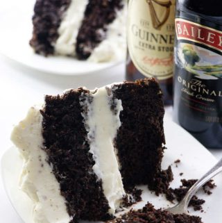 Guinness chocolate cake with Baileys cream cheese frosting