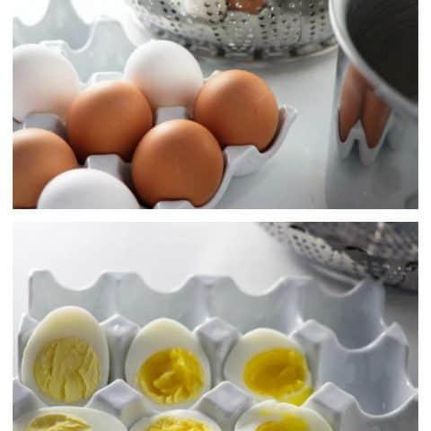Hard-Boiled Eggs Steamed