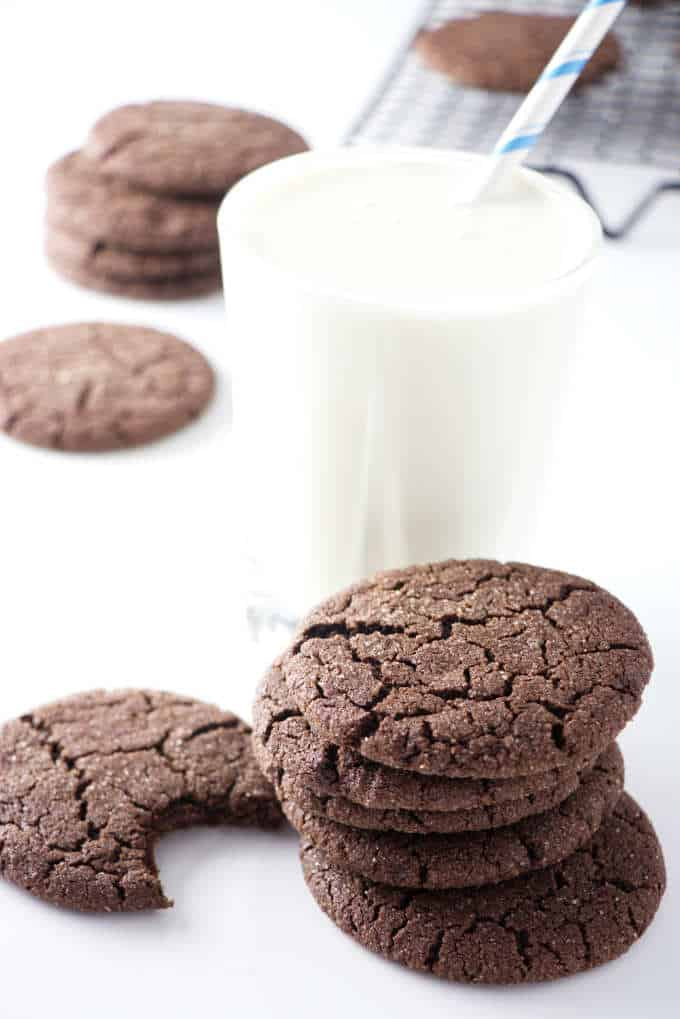 sugar cookies with a glass of milk