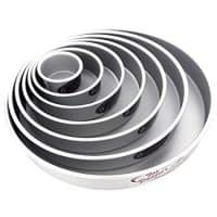 "Fat Daddio's Round Cake Pan Set 4""-6""-8""-10""-12"""