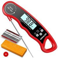 "GDEALER DT9 Waterproof Digital Instant Read Meat Thermometer with 4.6"" Folding Probe Calibration Function for Cooking Food Candy, BBQ Grill, Smokers"