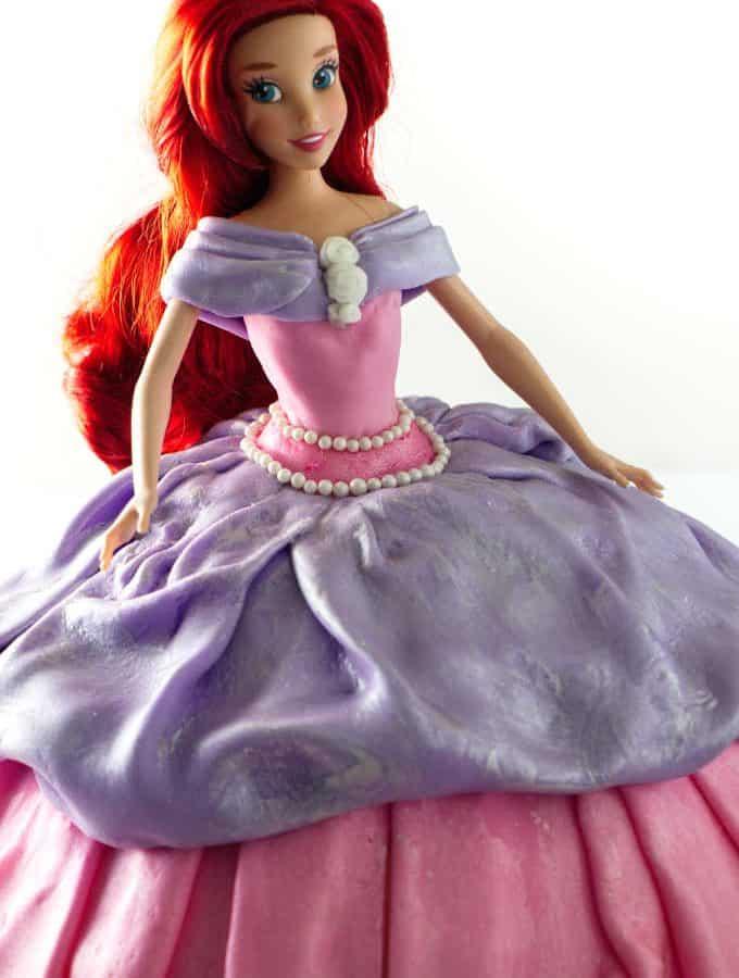 close up of Barbie cake