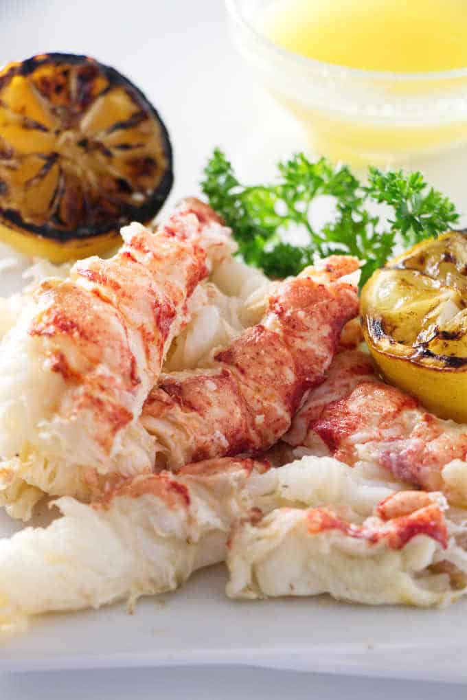 a pile of shelled lobster meat