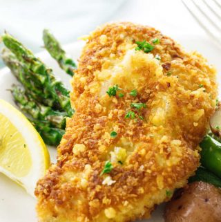 Close up of Parmesan Crusted Chicken