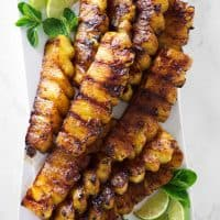 Grilled Pineapple with Cinnamon Sugar