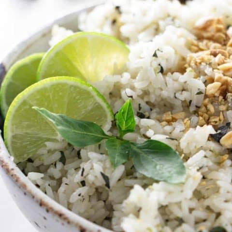 Instant Pot Basil Lime Rice