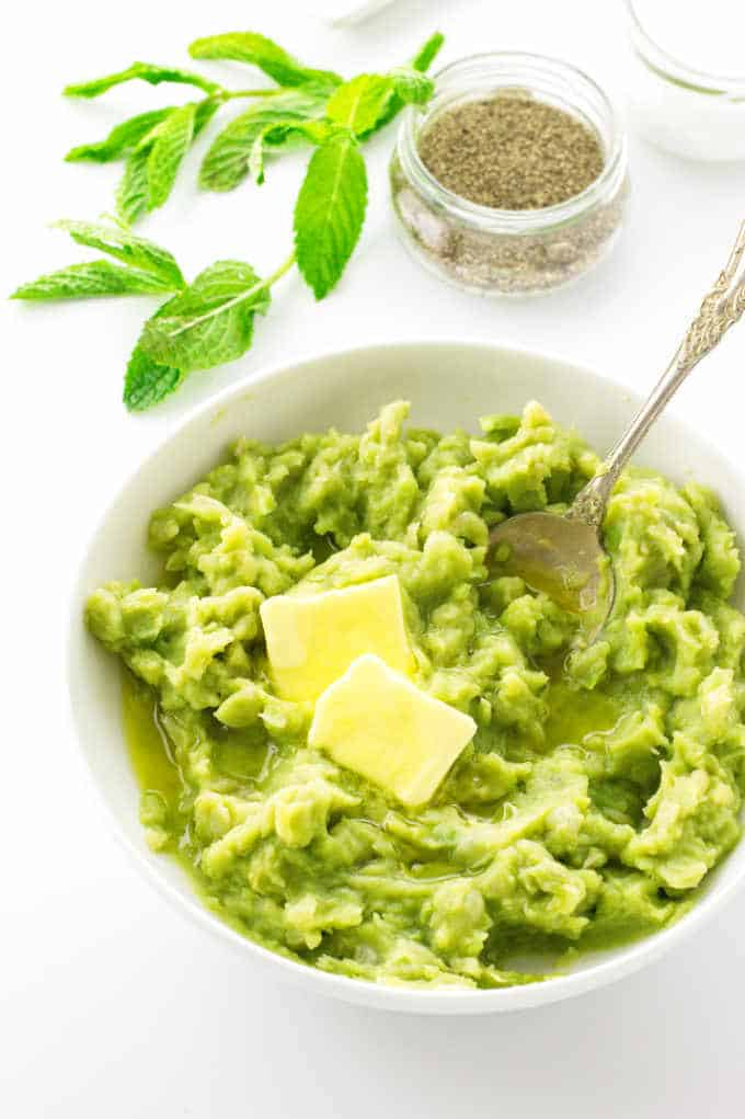 Mushy Peas with butter
