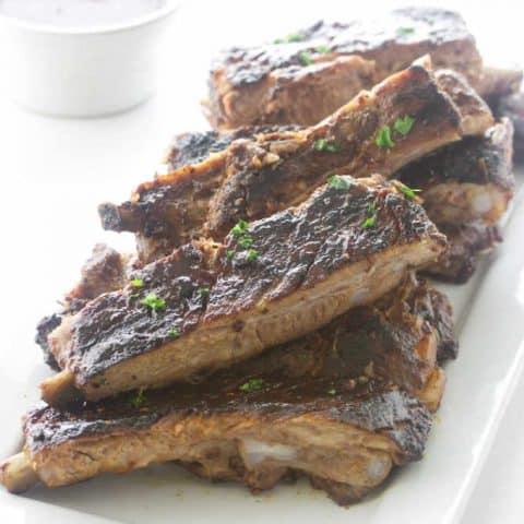 Raspberry Chipotle BBQ Pork Ribs